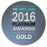 Eat Dance Shine won a Gold Award in The Janey Loves 2016 Platinum Awards